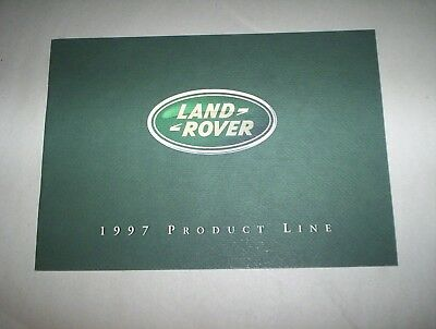 "Land Rover 1997 Products Line Brochure Booklet USA (7 3/4"" by 5 1/2"")"