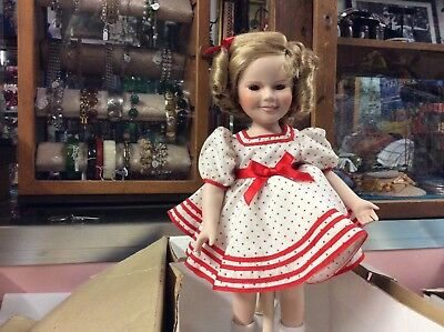 DANBURY MINT Shirley Temple Stand Up And Cheer Doll 13 Inch