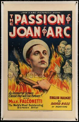 The Passion of Joan of Arc '33 - Dreyer Masterpiece w Falconetti - Linen - RARE!