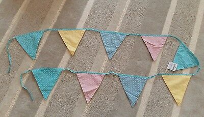 JoJo Maman Bebe fabric scallop bunting, nursery decoration party, new baby gift