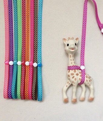 Sophie the giraffe strap, holder,toy saver,for Boys and Girls (buy2 get 1 Free)