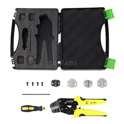Wire Crimpers Engineering Ratcheting Terminal Crimping Pliers Kit with Box E4H0