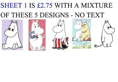 Moomins 65 Small Sticky White Paper Labels Envelope Seals NEW