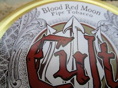 CULT BLOOD RED MOON 50 GR Collectible Pipe Tobacco Tin