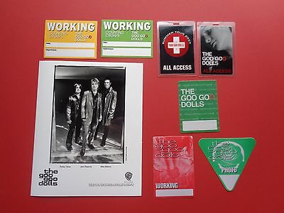 "GOO GOO DOLLS ,promo photo,7 ""OTTO""Backstage passes,RARE Originals"