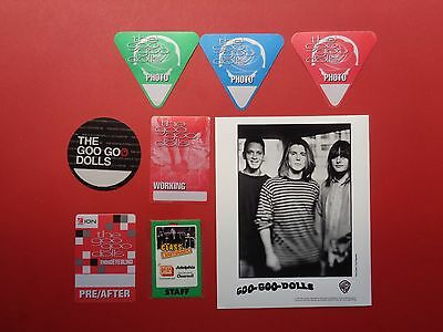 GOO GOO DOLLS,1 Promo Photo,7 Rare old Backstage Passes