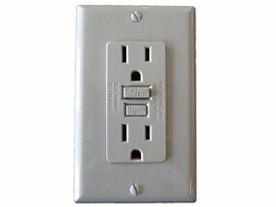 GFCI 15A 125V Outlet w/Wall Plate - Professional Electrician Grade