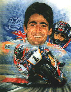 Mick Doohan signed limited edition print numbers 1, 3, 4, 5, available