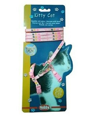 LIQUIDACION Nobby Kitty Cat Arnés Con Correa Gato Color Rosa Set Mascota Perro