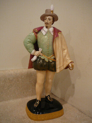 Royal Worcester Porcelain Figurine Statue Sir Walter Raleigh After Zaccaro #2668