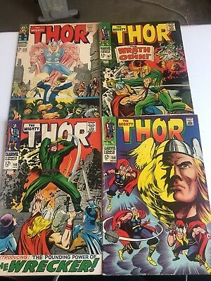 Thor (4) Issue Silver Age Comic Book LOT Marvel Comics Kirby GA