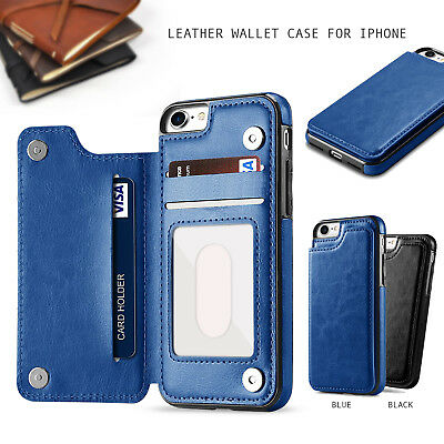 Leather Wallet Case Card Holder Cover for Apple iPhone XS Max XR X 8 7 6 6s Plus