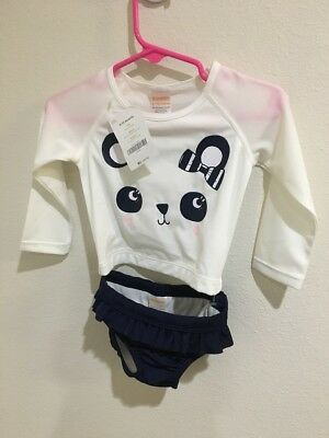 gymboree sunscreen swimwear 6-12m UPF 50+ panda long sleeve