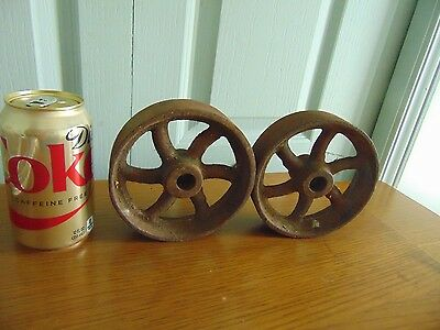 vintage /antique  -pulley - wheel   NICE  #  4444