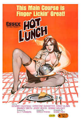 1978 HOT LUNCH VINTAGE ADULT FILM MOVIE POSTER PRINT 24x16 9MIL PAPER