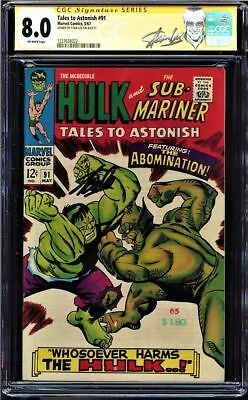 Tales To Astonish #91 Cgc 8.0 Ss Stan Lee Signed Cgc #1227639022