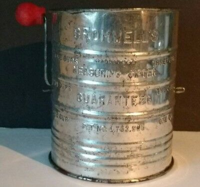 Vintage Bromwell's Flour Sifter 3 Cup Capacity - Good Working Condition