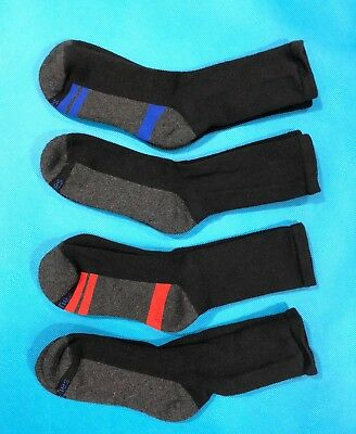 Youth/Boys Crew Socks - Hanes Comfort Blend - Large (3-9) Lot of 4 pairs