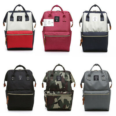 Japan Anello Fashion Backpack Rucksack Unisex Canvas Quality School Bag Campus #