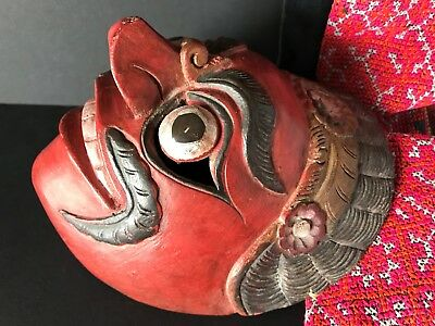 Old Balinese Carved Wooden Dance Mask …beautiful collection item