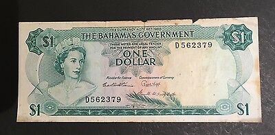 The Bahamas Government One Dollar Banknote, 1965, 3 signatures