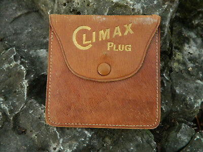 "Climax Plug,Leather Pouch Chewing Tobacco,""The Grand Old Chew"" Near mint"