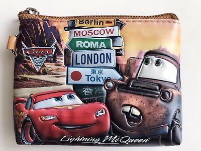 Boy Children Kids School Car McQueen Zip Coin Card small Wallet case bag purse