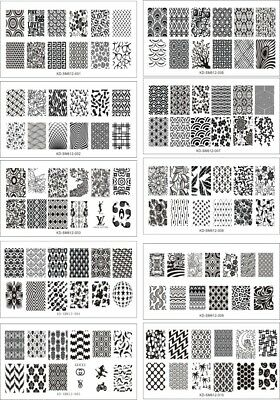 XL Stamping Plate Nail Art Manicure Tool Plastic Stamp Print 6x12cm US SELLER