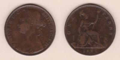 Great Britain One Penny 1881-H ---  Gbar