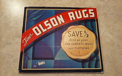 Vintage advertising Finer Olson Rugs 1935 Catalog