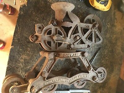Old Vintage Cast Iron advance hay  Trolley &Pulley Barn Unloader