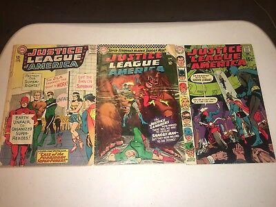 Justice League of America (3) Issue DC Silver Age Comic Book LOT lower grade GA