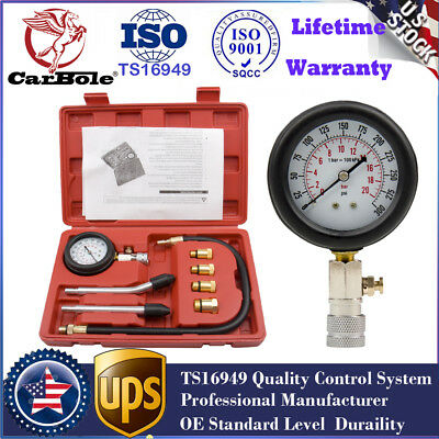 Quality Petrol Gas Engine Cylinder Compression Tester Gauge Kits Motor Auto