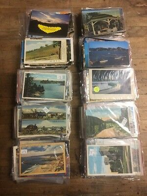 Huge Mixed Lot Of 500+ Antique And Vintage Postcards 1900s-1970s.