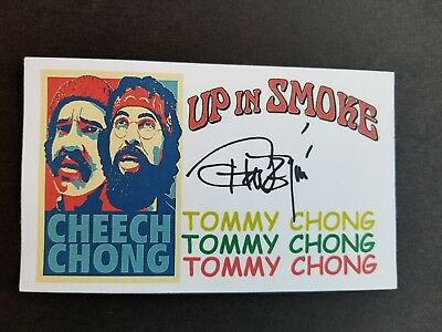 """Cheech & Chong Up in Smoke"" Tommy Chong Autographed 3x5 Index Card"