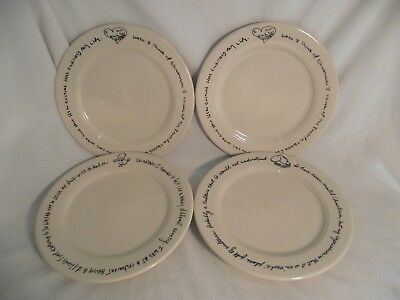 """Set of 4 Homer Laughlin Chinatown 9"""" Lunch Luncheon Plates"""