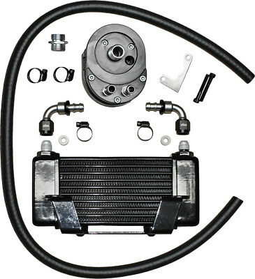 Jagg Oil Coolers Lowmount 10-Row Oil Cooler System (Black) 750-2400
