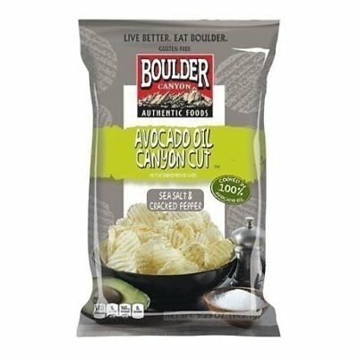 Boulder Canyon Avocado Oil Sea Salt and Cracked Pepper Chips, 5.25 Ounce -..