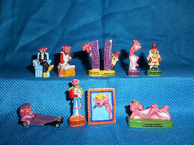 PINK PANTHER Set of 10 Mini Figures FRENCH PORCELAIN FEVES Figurines Inspector