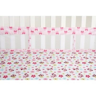 Minnie Mouse: Sitting Pretty Secure-Me Crib Mesh Liner by Disney Baby