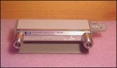 HP 33322B manual RF Step Attenuator , 0 - 110 dB ( 10 dB Steps ) DC - 18 Ghz , N