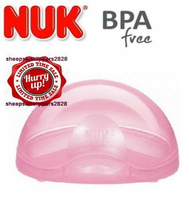 PINK NUK Baby Soother Pacifier Dummy Travel Storage Box Case Holder