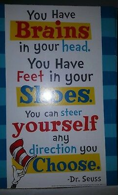 Dr Seuss Inspirational Quote Poster