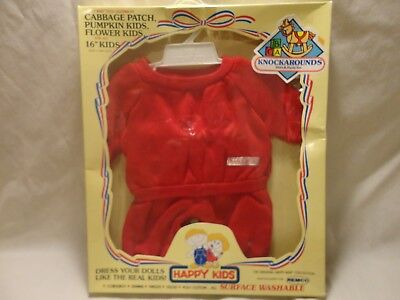 Cabbage Patch Red Sweat Outfit Happy Kids