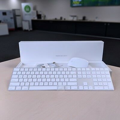 New Apple Magic Keyboard with Num Keypad + Magic Mouse 2 -Wireless Bluetooth Set