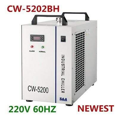 AC220V S&A CW-5202BH Industrial Water Chiller for Single 130-150W CO2 Laser Tube