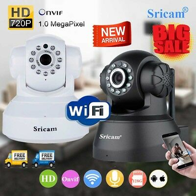 Sricam Wireless 720P HD WIFI IP Camera CCTV Security Baby Monitor Night Vision