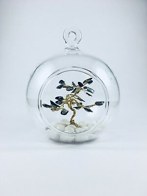 Handmade Abalone Shell Tree of Life in Glass - Arty Home Decor