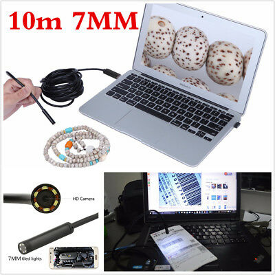 Waterproof Multifunction 2in1 7mm 10M 6LED Autos Endoscope HD Inspection Camera
