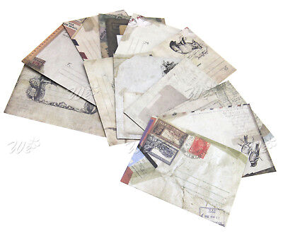 12pcs Mini Vintage Envelopes Kraft Paper For Cards Tags Gift Thank You Wishes